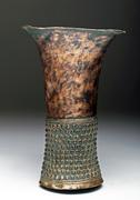 Lot 112: Rare Inca Copper-Silver Rattling Ceremonial Kero