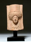 Boeotian Terracotta Protome Of A Goddess