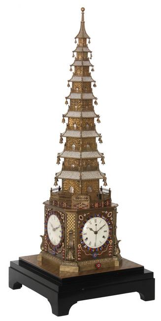 This exceedingly rare 18th century automaton musical clock, English-form, produced for the Chinese Qing Imperial Court, came within a whisper of hitting the $1 million mark, finishing at $998,250.