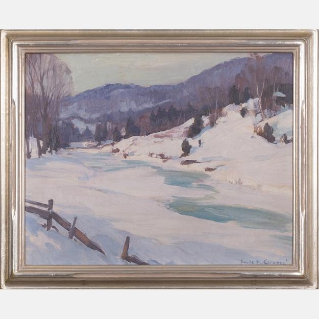 Lot 1 Emile Gruppe (1896-1978) Winter Scene.