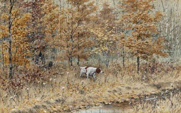 "Arthur Burdett Frost (1851-1928) | ""Fall Woodcock Shooting,"" 1885 