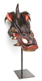 Parade horse mask in the shape of a dragon's head, Edo period, 19th century.  Leather, lacquer, and horsehair.  Courtesy of Private Collection.  Photography by Forrest Cavale and ZacForrest Cavale and Zach Niles of ThirdElementStudios.com.