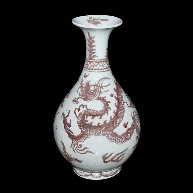 Yuan Dynasty copper glaze dragon jar--Lot 138 in Gianguan Auctions' December 19th sale.