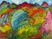 'Provence Landscape', 2001.  Oil on canvas, 30 x 40 inches.