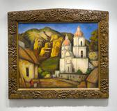 """La Iglesia de Texcoco"" by Mexican modernist Ramos Martinez"
