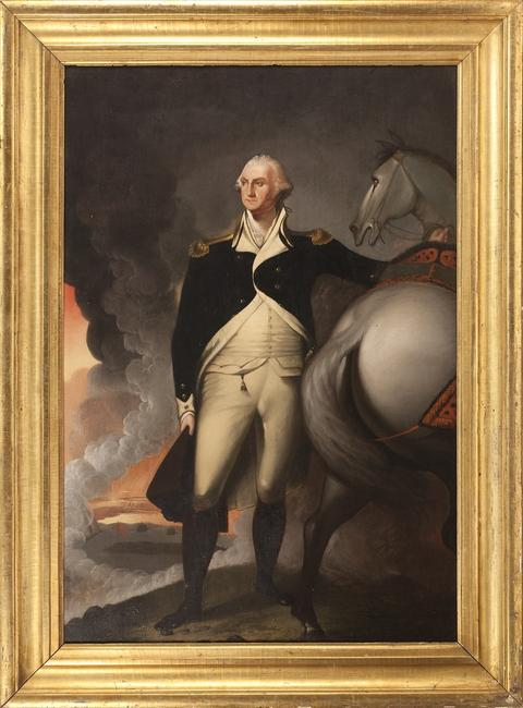 Jane Stuart (attr.) portrait of George Washington after her father Gilbert Stuart's 1806 masterpiece.