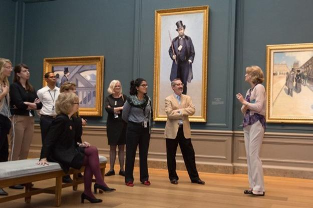 "SVA members' tour of ""Gustave Caillebotte: The Painter's Eye"" organized by Mary Morton, curator and head of the department of French paintings, at the National Gallery of Art."