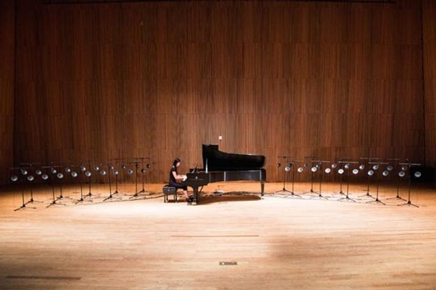 "Pianist Vicki Chow will perform Tristan Perich's ""Surface Image"" on September 30, 12:30 p.m., West Garden Court to celebrate the reopening of East Building galleries."