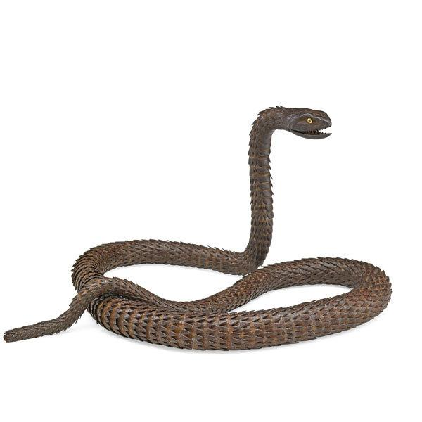 Myochin School Iron Articulated Snake, sold for $37,500
