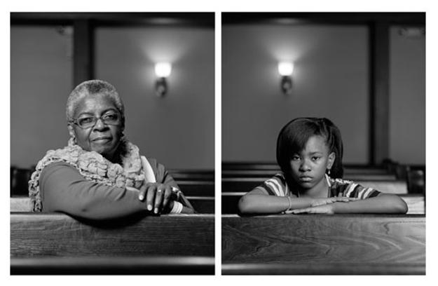 Dawoud Bey Mary Parker and Caela Cowan, 2012 2 inkjet prints mounted to dibond overall: 101.6 x 162.56 cm (40 x 64 in.) National Gallery of Art, Washington, Gift of the Collectors Committee and Alfred H.  Moses and Fern M.  Schad Fund