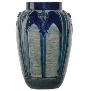 Lot 15: Newcomb College, Early Vase with Bats, $30,000 – $40,000