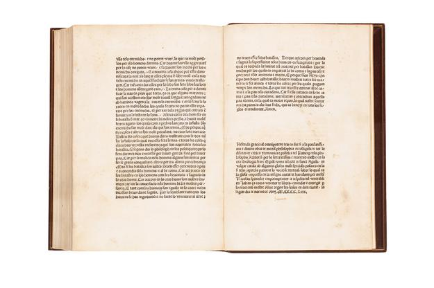 Lot 163: Aegidius Romanus, Lo libre del regiment dels princeps, first edition in Catalan, Barcelona, 1480.  Sold October 17, 2017 for $50,000.  (Pre-sale estimate: $10,000 to $15,000).