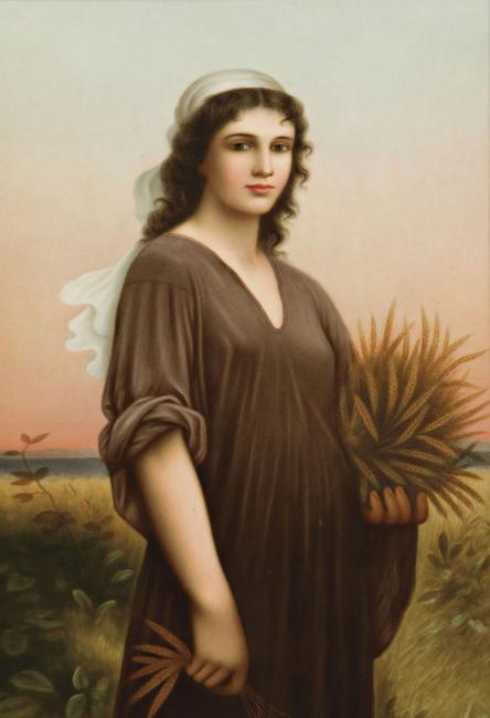 KPM Porcelain Plaque with Depiction of Ruth, Germany, late 19th/early 20th century (Lot 451, Estimate $3,000-5,000)