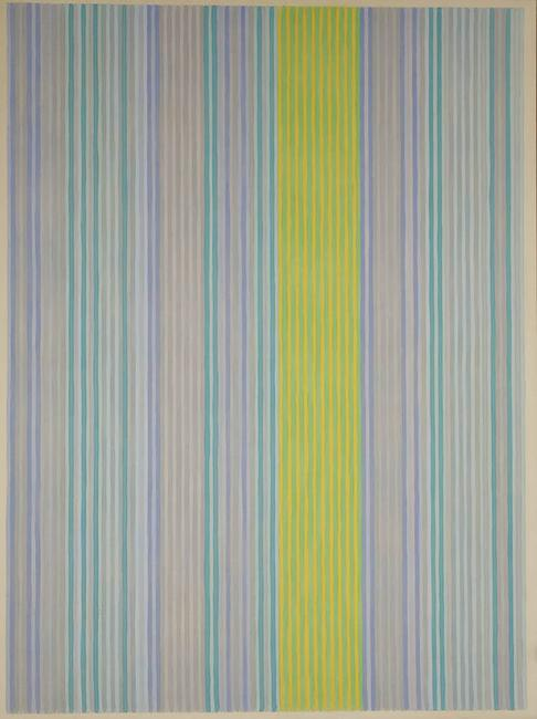 "Gene Davis ""Stripes (Blue)"", Estimate: $40,000-$60,000"