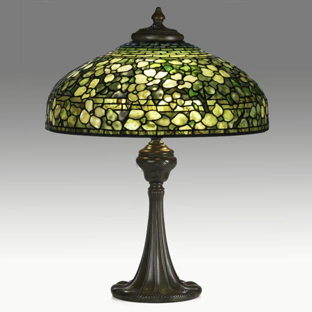 Tiffany Studios, Lamp with Dogwood Shade, $95,000-125,000