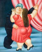 Lot 190: FERNANDO BOTERO Italian b.  1932 Oil on Canvas