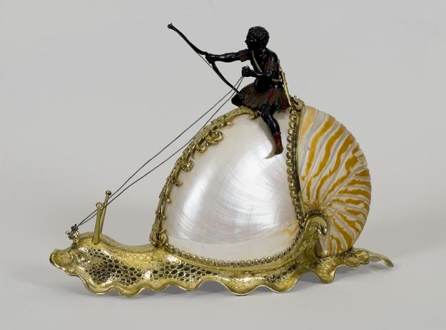 Nautilus snail, c.  1630, German, Nuremberg, Mounts by Jeremias Ritter, nautilus shell and silver-gilt, Wadsworth Atheneum Museum of Art, Gift of J.  Pierpont Morgan, 1917.260