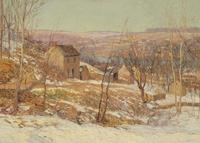 Edward Willis Redfield, Winter in the Valley, oil on canvas, 36 x 50 in., Reading Public Museum, 1928.68.1