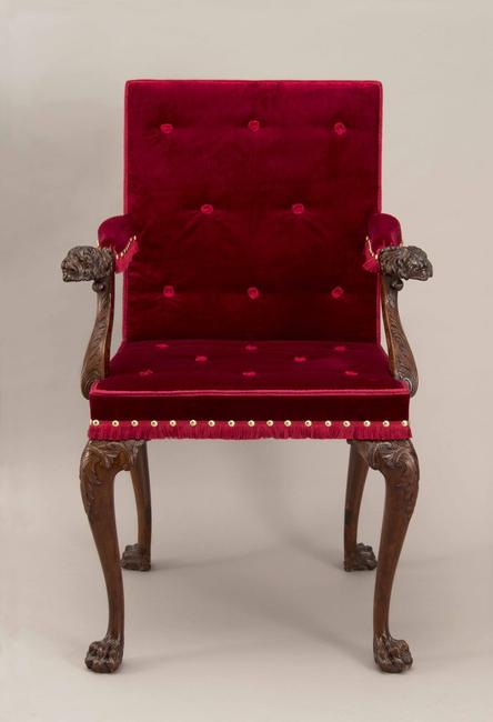 Governor's Chair, London, England, ca.  1750, mahogany and beech, Museum Purchase, 1930-215