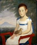Girl with Dove Cephas Thompson Probably Rhode Island, ca.  1805 Oil on wood panel Gift of Abby Aldrich Rockefeller, 1933.100.3