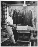 1956- Hans Burkhardt in his studio