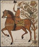 The Daring Hero, Jacob Strickler; Page County, Virginia; 1792 Watercolor, resin, and ink on laid paper; Colonial Williamsburg Museum Purchase, 1974.305.9