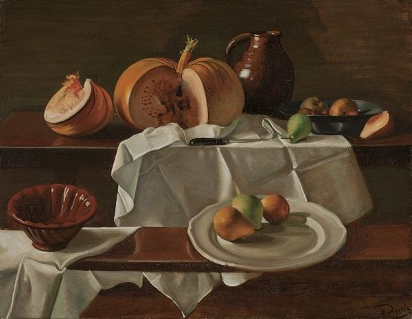 "André Derain, ""Still Life with Pumpkin (La Citrouille),"" 1939.  Oil on canvas.  SBMA, Bequest of Wright S.  Ludington."