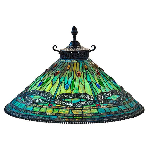 Lot 1: Tiffany Studios Dragonfly Hanging Shade, $75,000 – 100,000