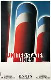 A.M.  Cassandre, United States Line, 1928.