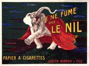 Leonetto Cappiello, Le Nil, 1912.  63 x 47 inches, lithograph.