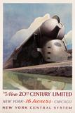 Leslie Darrell Ragan, The New 20th Century Limited, 1938.  Lithograph, 27 x 40.5 inches.