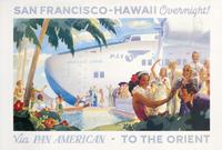 San Francisco -- Hawaii Overnight! Via Pan American -- To the Orient, circa 1939