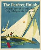 Elmes, Willard Frederic, The Perfect Finish, 1929.  Lithograph backed on linen.  36.25 x 43.75 inches.