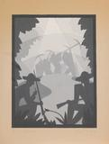 Aaron Douglas, American, 1899–1979; On the Road, c.1930–40; gouache on Bainbridge illustration board; image: 10 x 7 1/2 in.; Collection of Dr.  Anita White 2010.71 © Heirs of Aaron Douglas