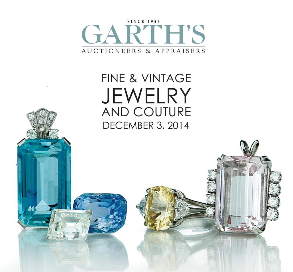 Cover of Garth's December 3, 2014 Jewelry & Couture auction catalog.