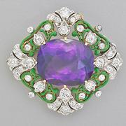 Lot 2019, Tiffany & Co.  Renaissance Revival Quatrefoil Brooch.  $6,000-8,000.