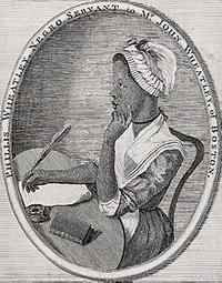 "Frontispiece portrait of Phillis Wheatley, author of ""Poems on Various Subjects Religious and Moral"" (London, 1773)"