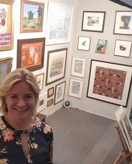 Freya Mitton, exhibitor at The Cotswolds Decorative Antiques Fair