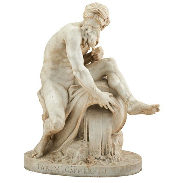 Lot 2249: Jean-Jacques Caffieri (French, 1725-1792), Depicting a river god, $10,000-15,000