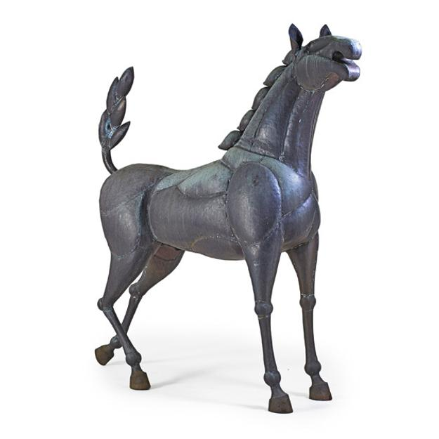 Victor Delfin, Life Sized Bronze Sculpture of a Horse.  Sold for $32,500.