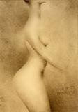 Vasily Sitnikov, Nude of Martha Wayman: Double-Sided Work