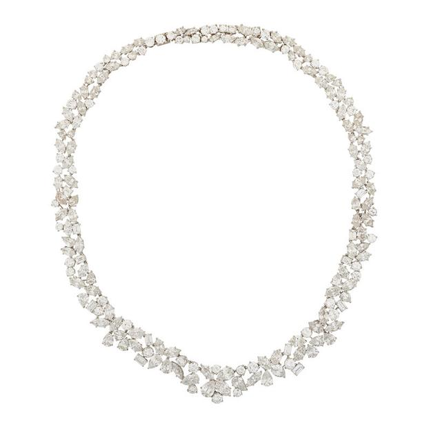 Lot 2500: Marianne Ostier Diamond and Platinum Necklace, $30,000-50,000.