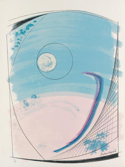 Lot 264: Barbara Hepworth, Opposing Forms, complete portfolio with 12 color lithographs, 1969-70.  Estimate $20,000 to $30,000.