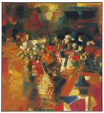 - Syed Haider Raza Village en Fête oil on canvas Estimate: $600,000-800,000