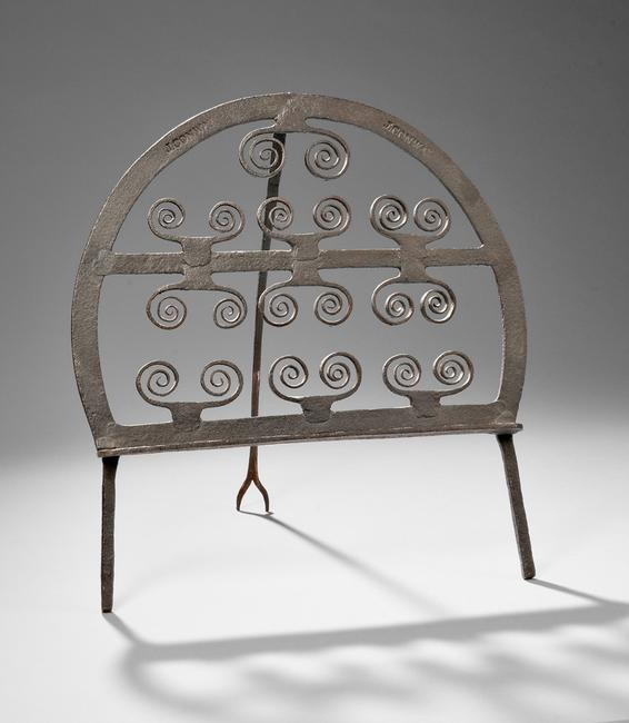 Wrought Iron Standing Broiler, America, late 18th/early 19th century (Lot 18, Estimate $1,500-$2,500)