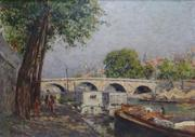 "PICABIA, Francis.  ""Ponte Marie"" Oil on Canvas."