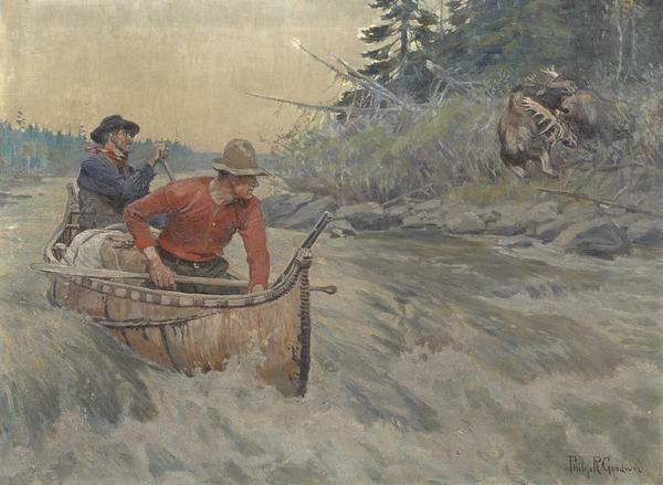 "Philip Russell Goodwin (American, 1882-1935) ""Moose Trappers"""