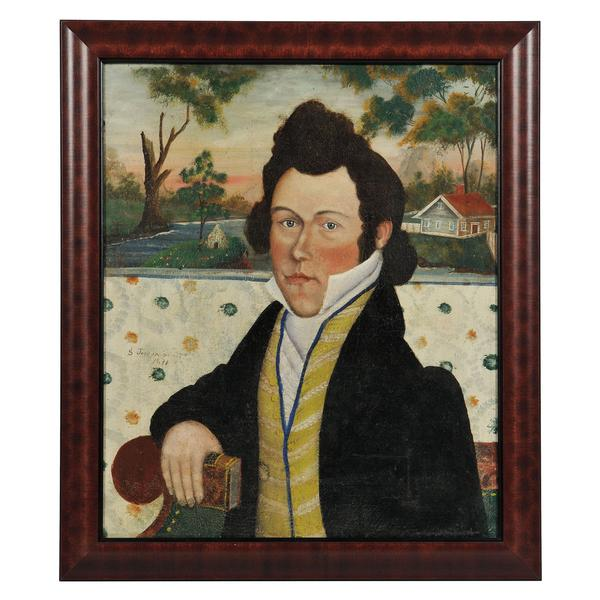Samuel Jordan (New Hampshire/Massachusetts, 1804-after 1836) Portrait of a Gentleman (Lot 323, Estimate $8,000-$12,000)