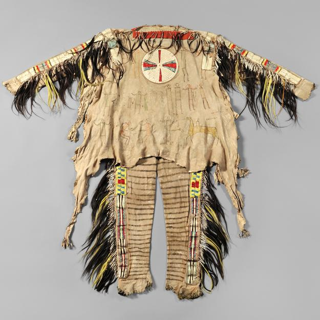 Rare and Important Blackfeet Chief's Shirt and Leggings, c.  1830s (Lot 143, Estimate $600,000-$800,000)