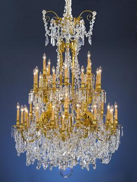 Baccaratcrystal fit for a king beauty rarity historye ms this monumental chandelier is saturated with oversized luminous prisms and beads of fine baccarat crystal aloadofball Choice Image